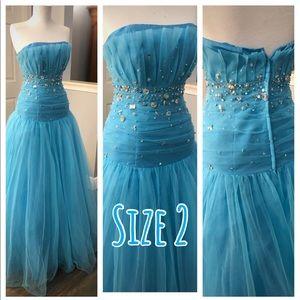 Island Blue Ball Gown
